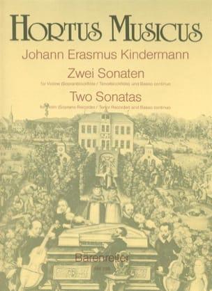 Johann Erasmus Kindermann - 2 Sonaten für Violine (Sopran- / Tenorblockflöte) und B. C. - Partition - di-arezzo.fr
