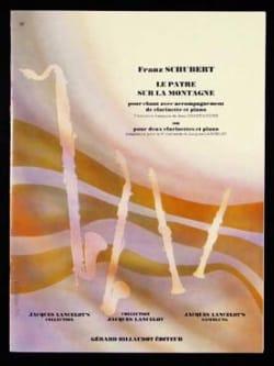 Le pâtre sur la montagne op. 129 - 2 clarinettes et piano - laflutedepan.com