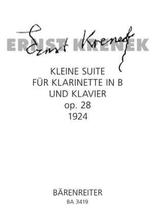 Ernst Krenek - Kleine Suite op. 28 – Klarinette Klavier - Partition - di-arezzo.fr
