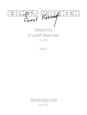 Streichtrio op. 237 – Partitur - Ernst Krenek - laflutedepan.com