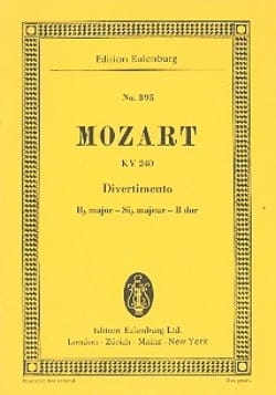 Divertimento Nr. 9 B-Dur - Wolfgang Amadeus Mozart - laflutedepan.com
