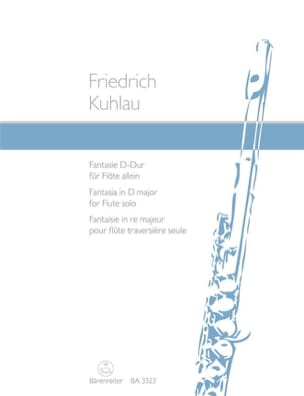 Friedrich Kuhlau - Fantasie D-Dur op. 38 n° 1 – Flöte solo - Partition - di-arezzo.fr