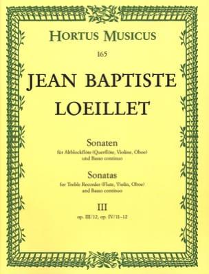 Sonaten - Heft 3 - Altblockflöte o. Flöte, VIoline, Oboe u. Bc - laflutedepan.com