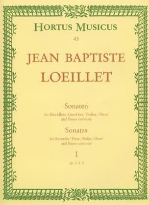 de Gant Jean Baptiste Loeillet - Sonaten - Heft 1 : Op. 1 N° 1-3 - Blockflöten U. Bc - Partition - di-arezzo.fr