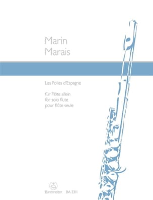 Marin Marais - The Folies of Spain - Solo flute - Sheet Music - di-arezzo.co.uk