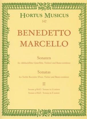 Benedetto Marcello - Sonaten op. 2 - Bd. 2 (Nr. 3-4) – Altblockflöte u. Bc - Partition - di-arezzo.fr
