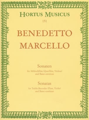 Benedetto Marcello - Sonaten op. 2 - Bd. 1 Nr. 1-2 - Altblockflöte u. Bc - Sheet Music - di-arezzo.co.uk