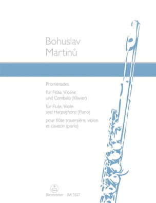 Bohuslav Martinu - Promenades -Flöte, Violine und Cembalo Klavier - Partition - di-arezzo.fr