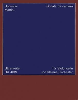 Bohuslav Martinu - Sonata da Camera für Cello und kleines Orch. – Partitur - Partition - di-arezzo.fr