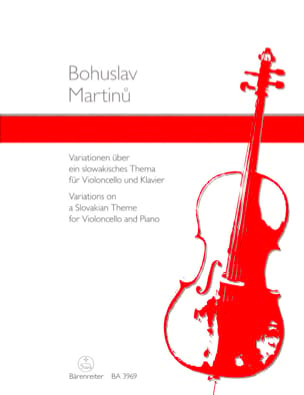 Bohuslav Martinu - Variationen über ein Slowakisches Thema - Sheet Music - di-arezzo.co.uk