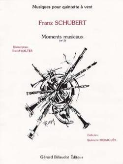 Franz Schubert - Moments musicaux n° 3 –Quintette à vent - Cond. + parties - Partition - di-arezzo.fr