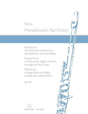 MENDELSSOHN - Scherzo aus Ein Sommernachtstraum op. 61/1 - 4 Flöten - Partition - di-arezzo.fr