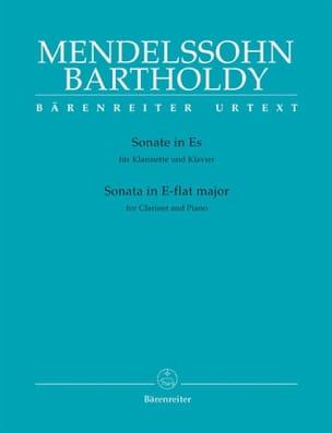 Bartholdy Felix Mendelssohn - Sonate Es-Dur für Klarinette und Klavier - Partition - di-arezzo.fr