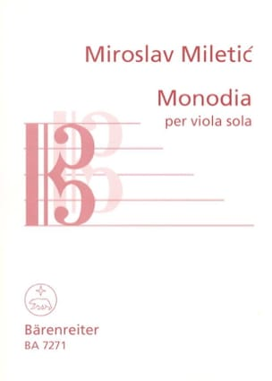 Miroslav Miletic - Monodia - Partition - di-arezzo.fr