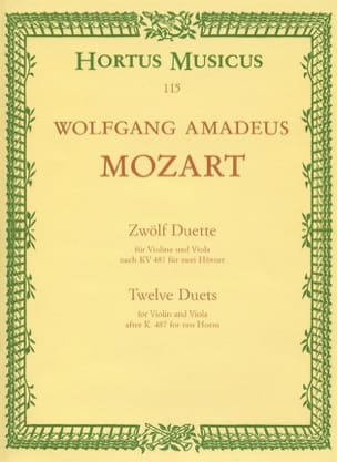 Wolfgang Amadeus Mozart - 12 Duette - Partition - di-arezzo.fr