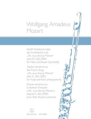 MOZART - 12 Variationen über Ah, vous dirai-je Maman - Flöte Klavier - Partition - di-arezzo.fr