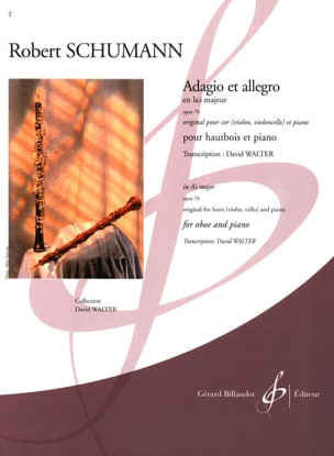 SCHUMANN - Adagio and Allegro in Lab Maj. op. 70 - Sheet Music - di-arezzo.com