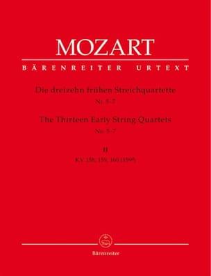 MOZART - 13 Frühe Streichquartette, Heft 2 KV 158-160 - Stimmen - Sheet Music - di-arezzo.co.uk