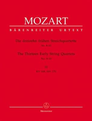 MOZART - 13 Frühe Streichquartette, Heft 3 KV 168-170 - Stimmen - Sheet Music - di-arezzo.co.uk