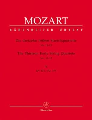 MOZART - 13FrüheStreichquartette、Heft 4 KV 171-173 - スティメン - 楽譜 - di-arezzo.jp
