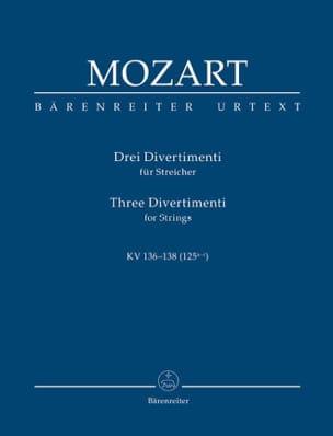 Wolfgang Amadeus Mozart - 3 Divertimenti für Streichquartett oder Streichorchester. Urtext der NeuenMozart - Partition - di-arezzo.fr