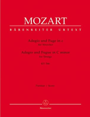 MOZART - Adagio und Fuge c-moll KV 546 for Streicher - Driver and Instrumentation - Sheet Music - di-arezzo.co.uk