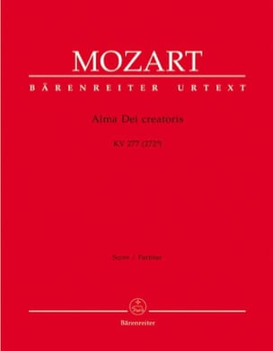 Wolfgang Amadeus Mozart - Alma Dei Creatoris KV 277 – Partitur - Partition - di-arezzo.fr