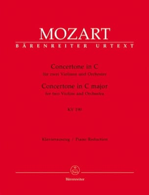 MOZART - Concertone in C-Dur KV 190 - 2 Violin Klavier - Sheet Music - di-arezzo.co.uk