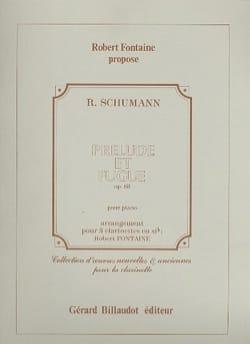 Prélude et Fugue op. 68 SCHUMANN Partition Clarinette - laflutedepan