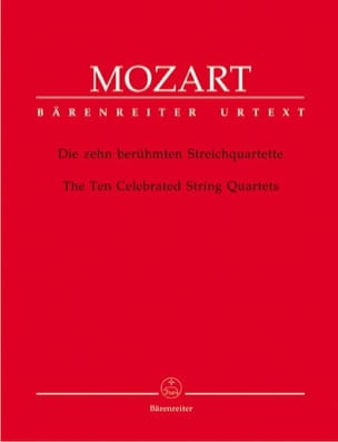 MOZART - The ten best-known string quartets - Instrumental parts. - Partition - di-arezzo.co.uk