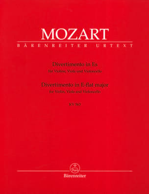 MOZART - Divertimento Es-Dur KV 563 - Instrumental parts - Sheet Music - di-arezzo.co.uk
