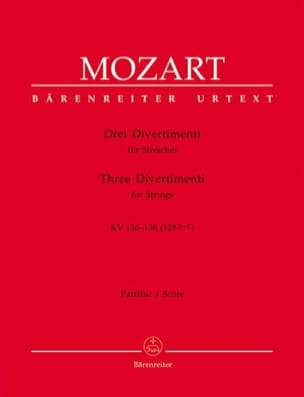 MOZART - Drei Divertimenti KV 136-138 125a-c - Partitur - Sheet Music - di-arezzo.co.uk
