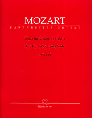 MOZART - Duos for Violin and Viola KV 423, 424 - Sheet Music - di-arezzo.com