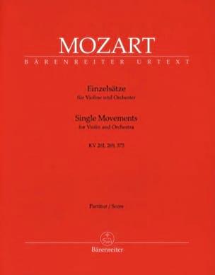 MOZART - Einzelsätze für Violine KV 261, 269, 373 - Partitur - Partition - di-arezzo.fr