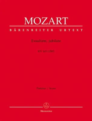 MOZART - Exsultate, jubilate KV 165 - Partitur - Sheet Music - di-arezzo.co.uk