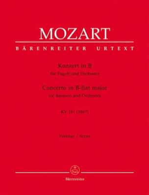 Wolfgang Amadeus Mozart - Fagottkonzert B-Dur KV 191 – Partitur - Partition - di-arezzo.fr