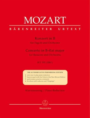MOZART - Fagottkonzert B-Dur KV 191 186th - Fagott Klavier - Sheet Music - di-arezzo.co.uk