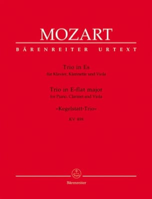MOZART - Bowling Trio KV 498 E Flat Major - Alto Clarinet Piano - Sheet Music - di-arezzo.co.uk