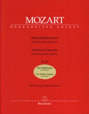 MOZART - Clarinet Concerto KV 622 - Clarinet Version in B flat - Sheet Music - di-arezzo.co.uk