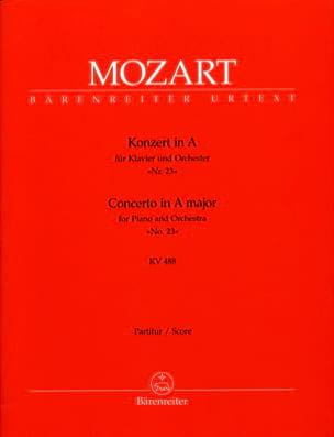 MOZART - Klavierkonzert Nr. 23 A-Dur KV 488 – Partitur - Partition - di-arezzo.fr