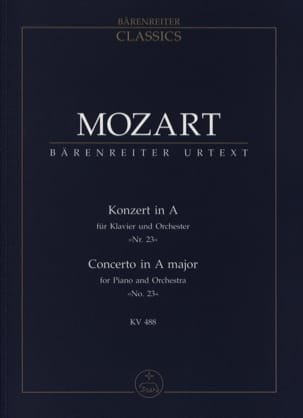 MOZART - Klavierkonzert Nr。23 A - ハードKV 488 - パーティー - 楽譜 - di-arezzo.jp