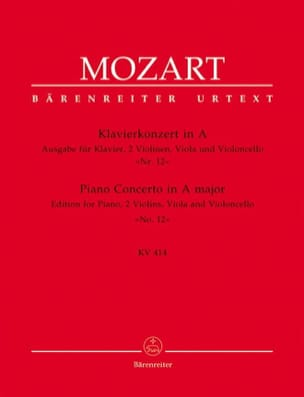 MOZART - Piano Concerto in the Major KV 414 - Piano Quintet Quintet Version - Sheet Music - di-arezzo.co.uk