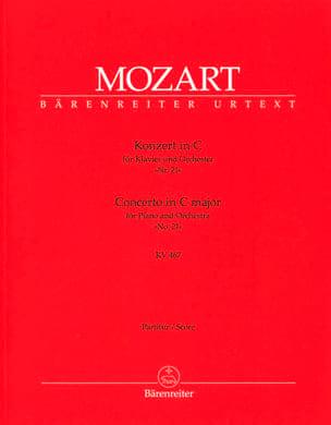 MOZART - Klavierkonzert Nr. 21 C-Dur KV 467 - Partitur - Sheet Music - di-arezzo.co.uk
