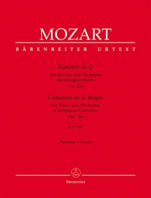 Klavierkonzert Nr. 26 D-Dur KV 537 (Krönungs) – Partitur - laflutedepan.com