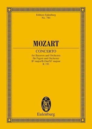 MOZART - Concerto en Sib Majeur Pour Basson et Orchestre K 191 - Partition - di-arezzo.fr