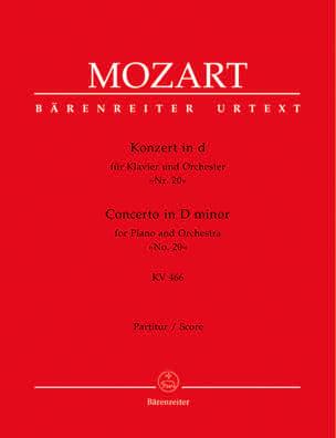 Wolfgang Amadeus Mozart - Klavierkonzert Nr. 20 d-moll KV 466 – Partitur - Partition - di-arezzo.fr