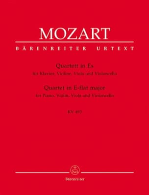 MOZART - Quartet in E flat major KV 493 - Instrumental parts - Sheet Music - di-arezzo.co.uk