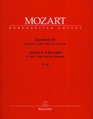 Wolfgang Amadeus Mozart - Quatuor en mi bémol Majeur KV 493 –Parties instrumentales - Partition - di-arezzo.fr