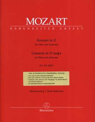 MOZART - Flute Concerto No. 2 in D major KV 314 - Sheet Music - di-arezzo.co.uk