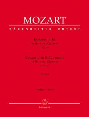 MOZART - Hornkonzert Nr. 4 Es-Dur KV 495 – Partitur - Partition - di-arezzo.fr
